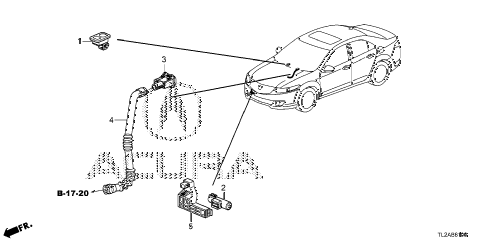 2014 TSX SE 4 DOOR 6MT A/C SENSOR diagram