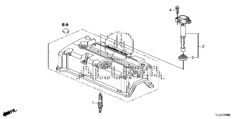 2014 TSX SE 4 DOOR 6MT PLUG HOLE COIL - PLUG (L4) diagram