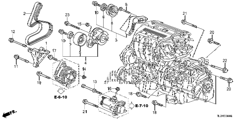 2014 TSX SE 4 DOOR 6MT ENGINE MOUNTING BRACKET (L4) diagram