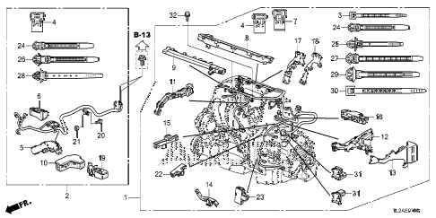 2014 TSX SE 4 DOOR 6MT ENGINE WIRE HARNESS (L4) diagram