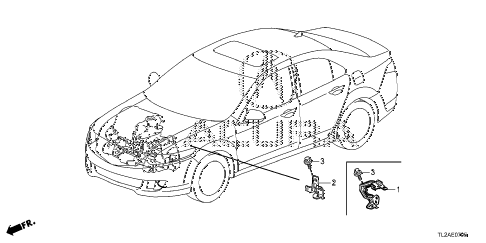 2014 TSX SE 4 DOOR 6MT ENGINE WIRE HARNESS STAY diagram