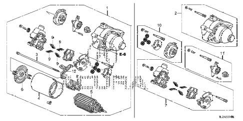 2014 TSX SE 4 DOOR 6MT STARTER MOTOR (MITSUBA) (L4) diagram