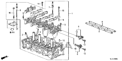 2014 TSX SE 4 DOOR 6MT CYLINDER HEAD (L4) diagram