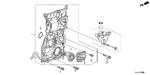 2014 TSX SE 4 DOOR 6MT CHAIN CASE (L4) diagram