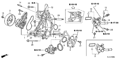 2014 TSX SE 4 DOOR 6MT WATER PUMP (L4) diagram