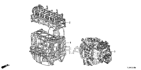 2014 TSX SE 4 DOOR 6MT ENGINE ASSY. - TRANSMISSION ASSY. (L4) diagram