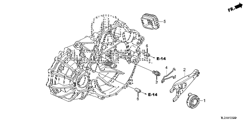 2014 TSX SE 4 DOOR 6MT MT CLUTCH RELEASE diagram