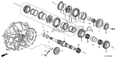 2014 TSX SE 4 DOOR 6MT MT MAINSHAFT diagram