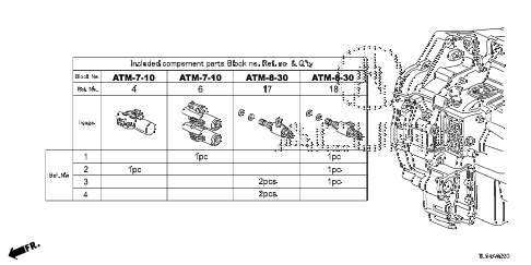 2011 TSX 5 DOOR 5AT AT SOLENOID VALVE SET diagram