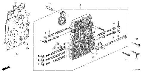 2011 TSX 5 DOOR 5AT AT MAIN VALVE BODY diagram