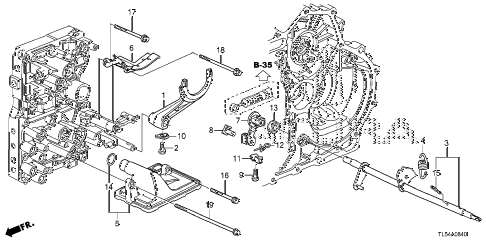 2011 TSX 5 DOOR 5AT AT SHIFT FORK diagram
