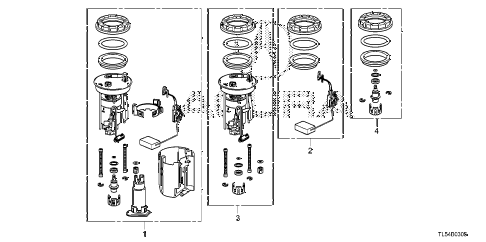 2013 TSX 5 DOOR 5AT FUEL TANK SET SHORT PARTS diagram