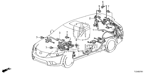 2013 TSX 5 DOOR 5AT WIRE HARNESS (2) diagram