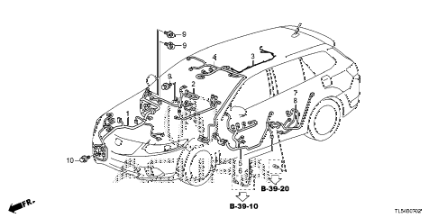 2013 TSX 5 DOOR 5AT WIRE HARNESS (3) diagram