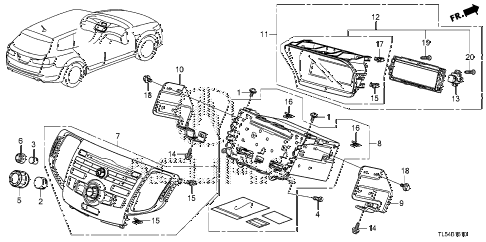 2012 TSX 5 DOOR 5AT AUDIO UNIT diagram