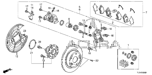 2011 TSXTEC 5 DOOR 5AT REAR BRAKE diagram