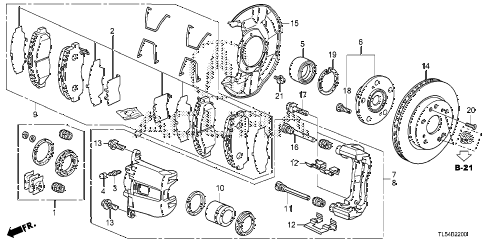 2011 TSXTEC 5 DOOR 5AT FRONT BRAKE diagram