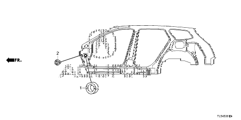 2011 TSX 5 DOOR 5AT GROMMET (SIDE) diagram