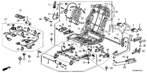 2013 TSX 5 DOOR 5AT FRONT SEAT COMPONENTS (L.) diagram