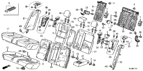 2011 TSXTEC 5 DOOR 5AT REAR SEAT diagram