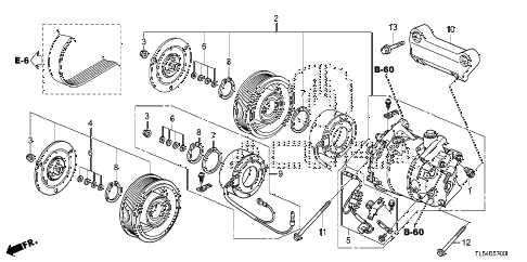 2012 TSX 5 DOOR 5AT A/C COMPRESSOR diagram