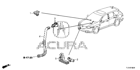2011 TSX 5 DOOR 5AT A/C SENSOR diagram