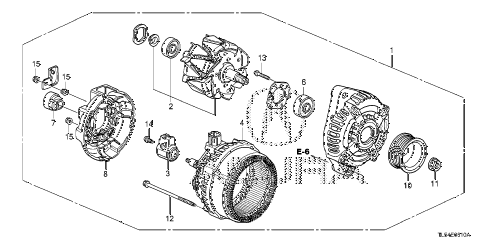 2013 TSX 5 DOOR 5AT ALTERNATOR (DENSO) diagram