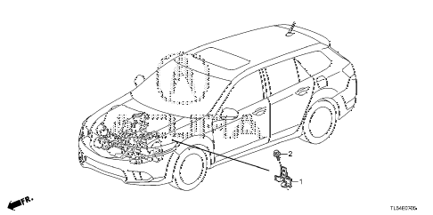 2011 TSX 5 DOOR 5AT ENGINE WIRE HARNESS STAY diagram