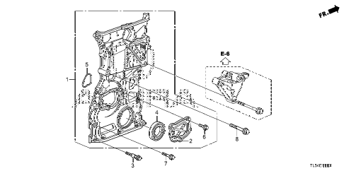2013 TSX 5 DOOR 5AT CHAIN CASE diagram