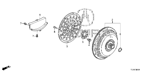 2012 TSX 5 DOOR 5AT TORQUE CONVERTER diagram