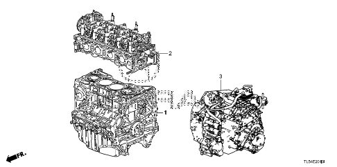 2011 TSXTEC 5 DOOR 5AT ENGINE ASSY. - TRANSMISSION ASSY. diagram