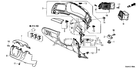 2013 ILX PRE2.4 4 DOOR 6MT INSTRUMENT PANEL GARNISH (DRIVER SIDE) diagram