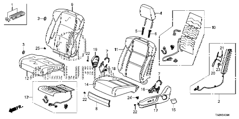 2013 ILX PRE2.4 4 DOOR 6MT FRONT SEAT (L.) (POWER SEAT) diagram