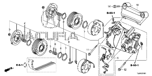 2013 ILX PRE2.4 4 DOOR 6MT A/C AIR CONDITIONER (COMPRESSOR) (2) diagram