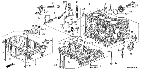 2013 ILX PRE2.4 4 DOOR 6MT CYLINDER BLOCK - OIL PAN (2) diagram