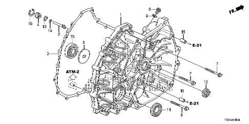 2014 ILX BASE 4 DOOR CVT AT FLYWHEEL CASE diagram