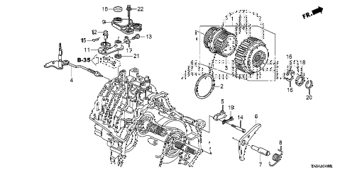 2013 ILX TECH 4 DOOR CVT AT STARTING CLUTCH diagram