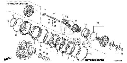 2013 ILX TECH 4 DOOR CVT AT INPUT SHAFT - FORWARD CLUTCH diagram