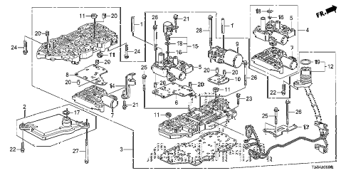2014 ILX TECH 4 DOOR CVT AT VALVE BODY diagram