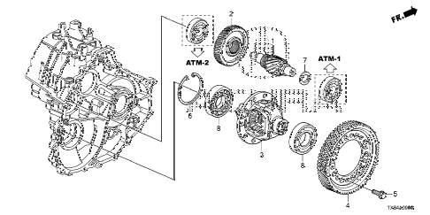 2014 ILX BASE 4 DOOR CVT AT DIFFERENTIAL diagram