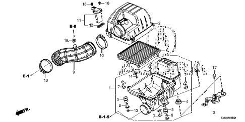 2014 ILX TECH 4 DOOR CVT AIR CLEANER diagram