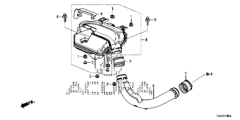 2014 ILX TECH 4 DOOR CVT AIR INTAKE CASE diagram