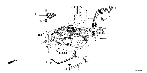 2014 ILX TECH 4 DOOR CVT FUEL FILLER PIPE diagram