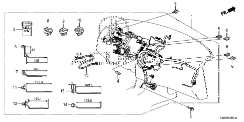 2013 ILX BASE 4 DOOR CVT WIRE HARNESS (2) diagram