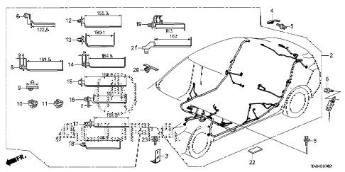 2013 ILX BASE 4 DOOR CVT WIRE HARNESS (3) diagram