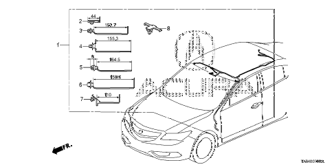2013 ILX BASE 4 DOOR CVT WIRE HARNESS (4) diagram