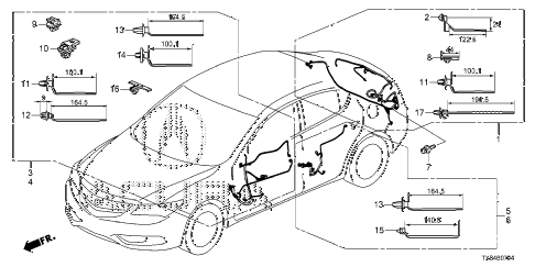 2013 ILX TECH 4 DOOR CVT WIRE HARNESS (5) diagram