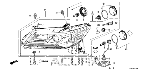 2013 ILX TECH 4 DOOR CVT HEADLIGHT diagram