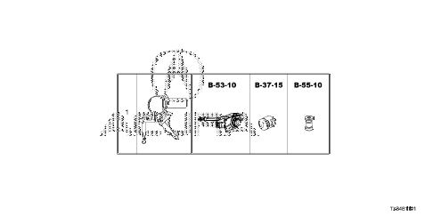 2013 ILX TECH 4 DOOR CVT KEY CYLINDER SET diagram
