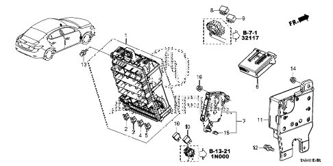 2013 ILX TECH 4 DOOR CVT CONTROL UNIT (CABIN) (1) diagram